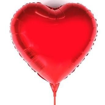 Balão Coração Vermelho
