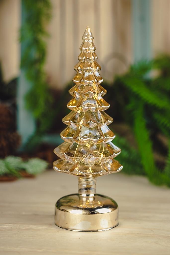 Árvore Decorativa - C/ Led - Dourado