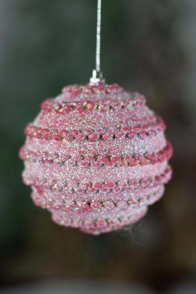 Bola Decorada Rosa 10cm - 3pçs