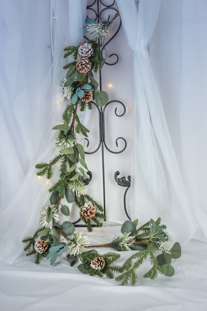 Festão Natural com Pinhas 150cm