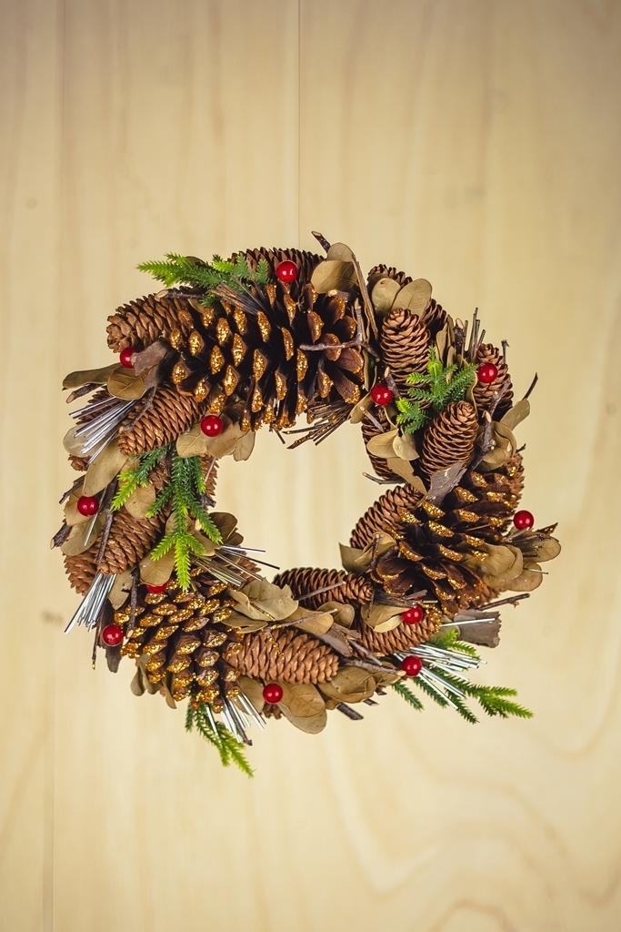 Guirlanda Berry Pinha Decorativa 30cm