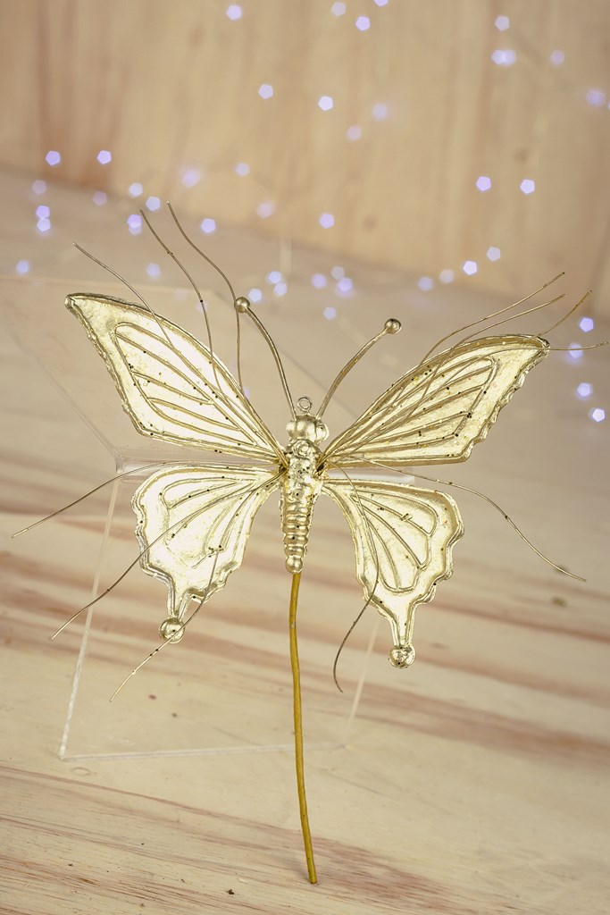 Kit 3pçs - Galho Decorativo Dourada 17cm