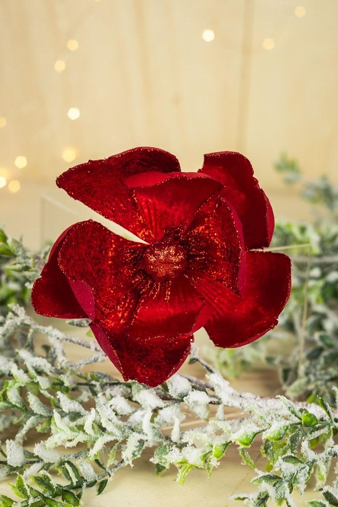 Kit 3pçs - Magnolia Decor Vermelho 23cm