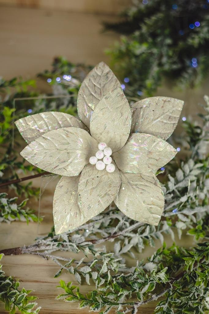 Kit Poinsetia Decorativa 3pçs