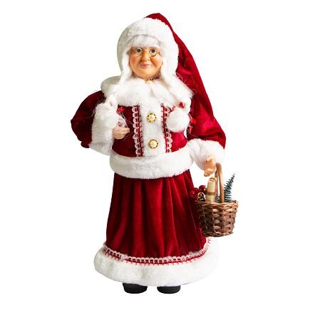 Mamae Noel em Pé Banqueiro 45cm