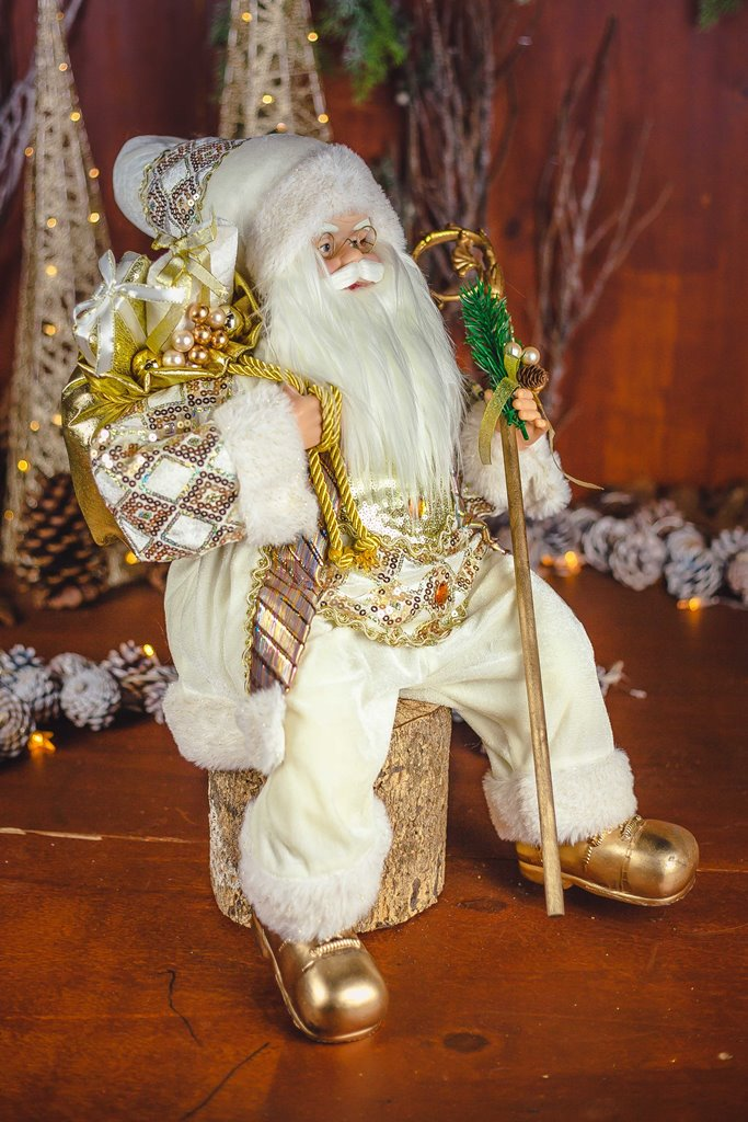 Papai Noel Prince Sentado - 60cm