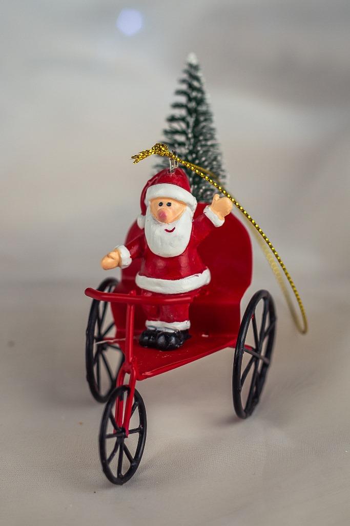 Papai Noel Triciclo Decorativo