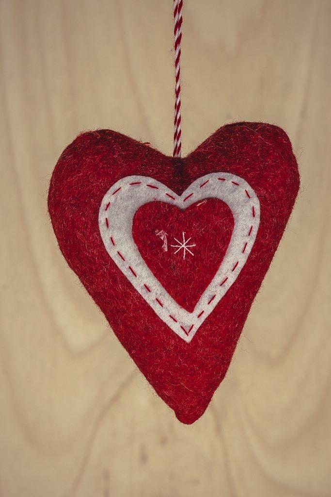 Pendente Coração Decor Ruby 3pçs 15cm