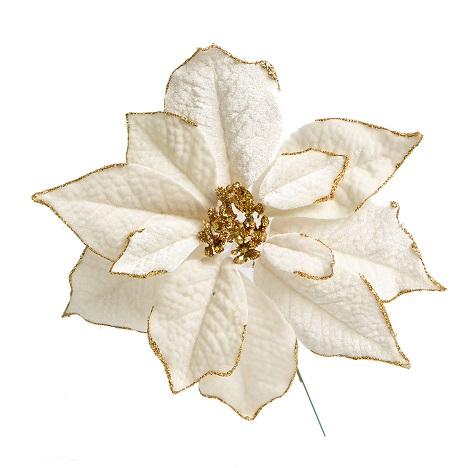 Poinsetia Pick Off White