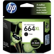 Cartucho de Tinta HP 664 XL Preto Original 8,5 ml [ 1115, 2136, 3636, 3836, 4536, 4676 ]