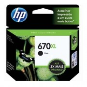 Cartucho de Tinta HP 670XL  PRETO Original [ 3525, 4615, 4625 e 5525 ]