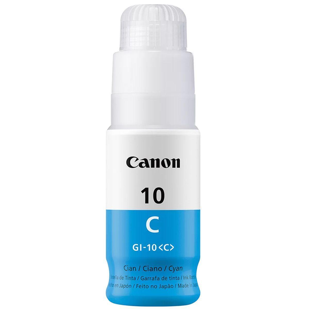 REFIL DE TINTA CANON GI 10 AZUL ORIGINAL 70 ML [ G- 6010, G- 7010, GM- 2010, GM- 4010 ]
