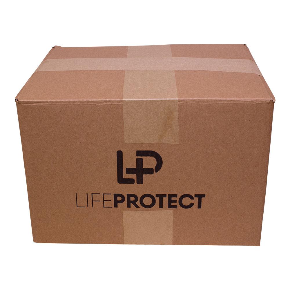 Caixa Master - 150 Unidades. Máscara de Proteção Life Protect  PFF1 Branca