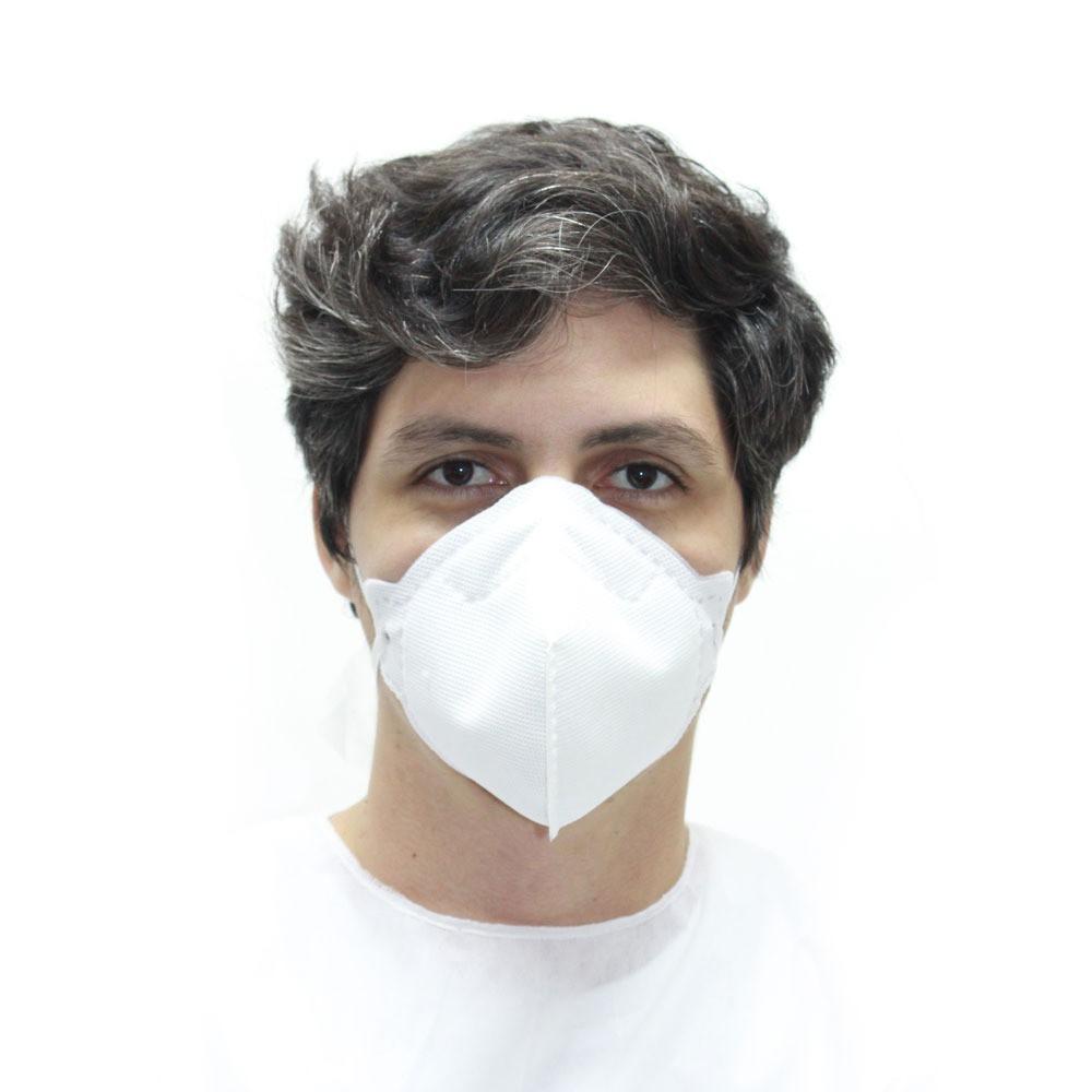 Máscara de Proteção Life Protect  PFF1 Branca KIT C/ 50  UNIDADES