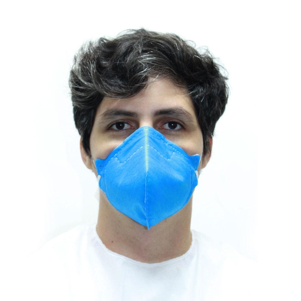 Máscara de Proteção Life Protect  PFF1 Azul KIT C/ 10  UNIDADES