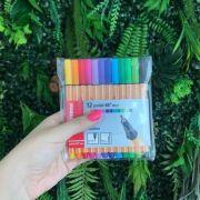 Stabilo Point 88 Mini - Kit com 12 cores