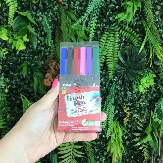 Brush Newpen - Kit com 6 cores básicas