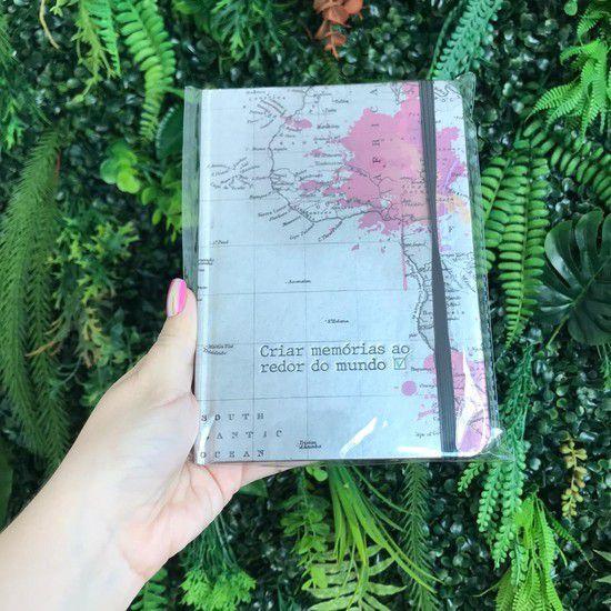 Caderneta de Anotações Mapa