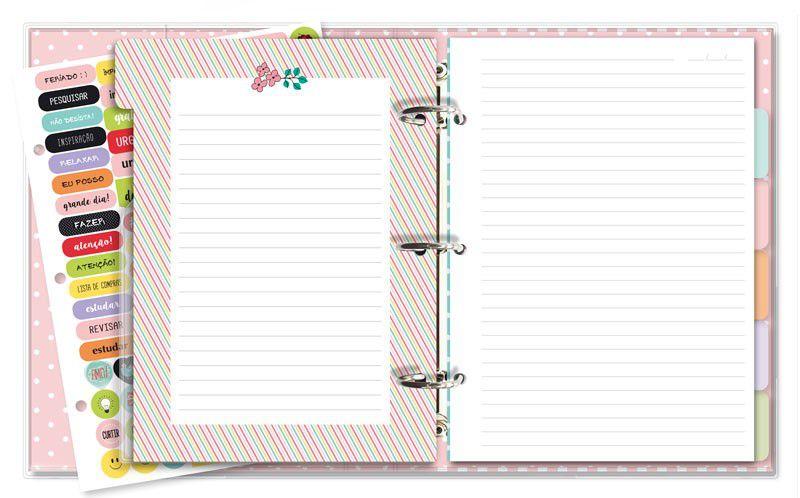 Caderno Argolado - Fichário - Bicho Preguiça