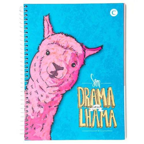 Caderno Espiral Sem Drama com a Lhama