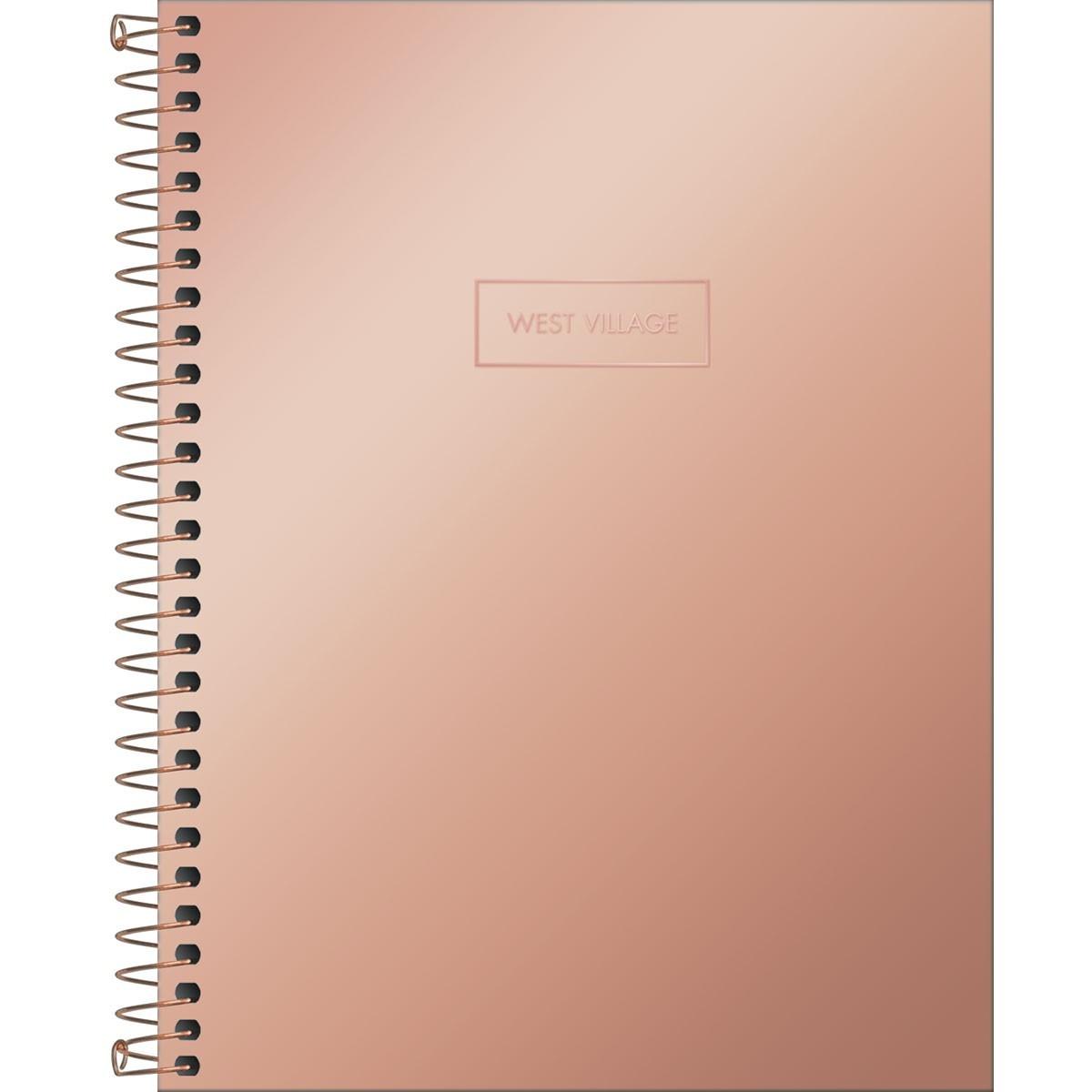 Caderno West Village Metalizado