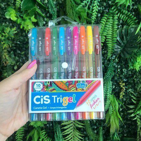 Caneta Trigel - Kit com 10