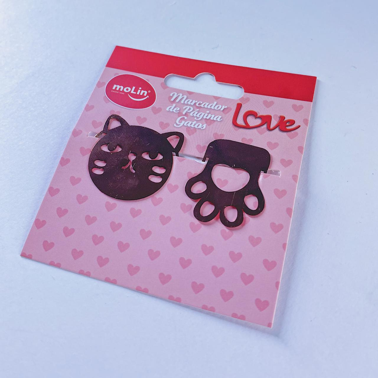 Marcador de página Gatos Love