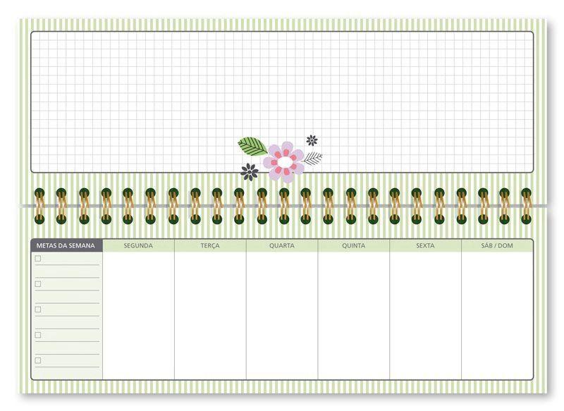 Planner Organizador Semanal Listrado