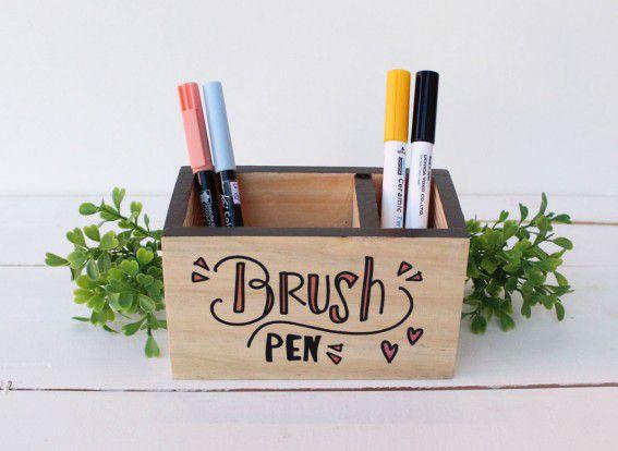 Porta Lápis 14 x 8cm Brush Pen
