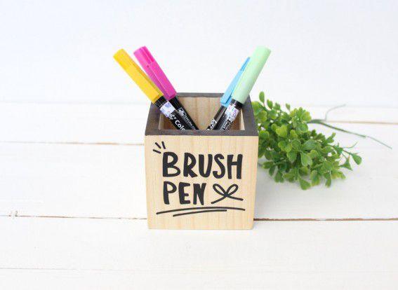 Porta Lápis 8 x 8cm Brush Pen