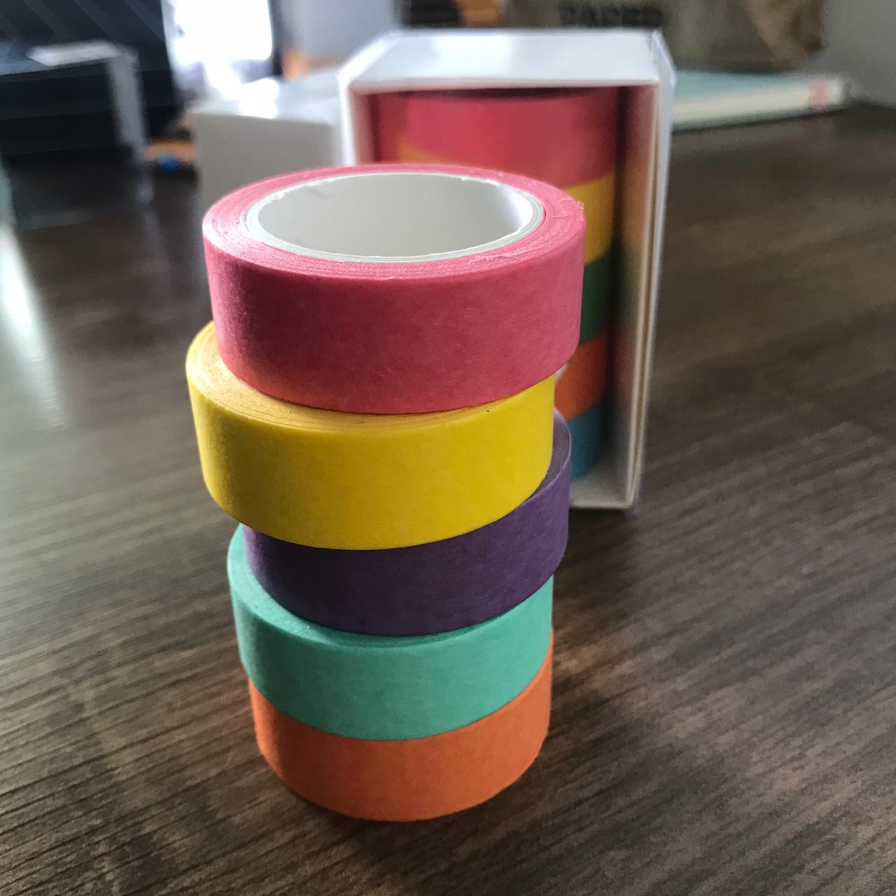 Washi Tape Colors - Kit com 5