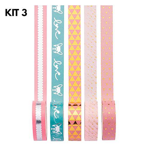 Washi Tape Love - Kit com 5