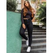 Calça Jeans Skinny - Preto