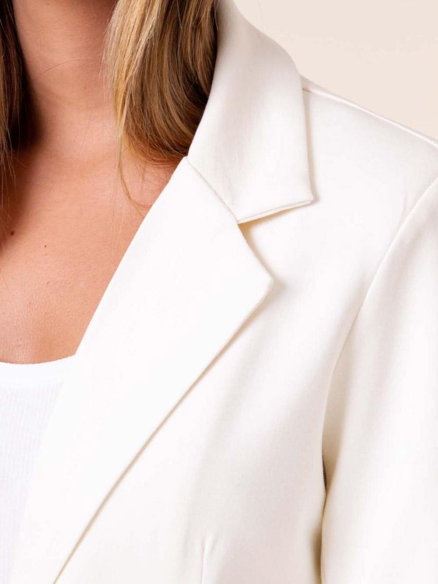 Blazer em Malha Alongado - Off White