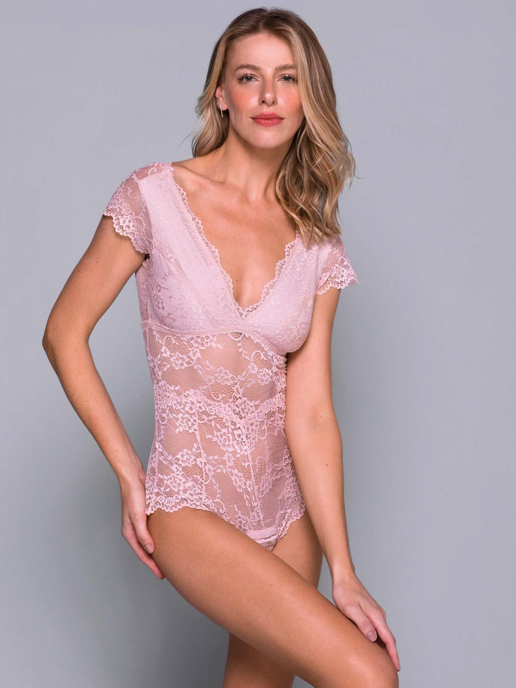 Body Rendado - Liebe - Nude