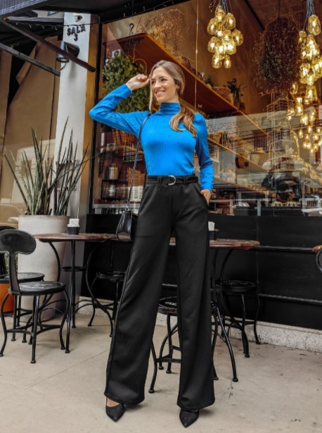 Calça Pantalonada Elegancy - Preto