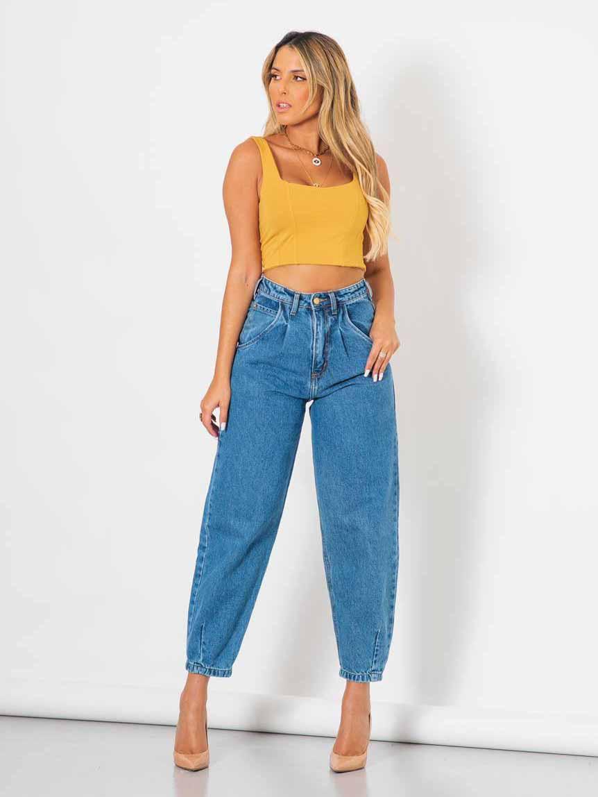 Calça Feminina Baggy Jeans