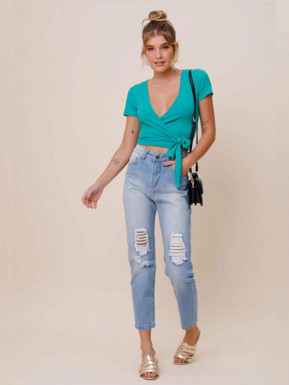 Calça Jeans Destroyed Vi