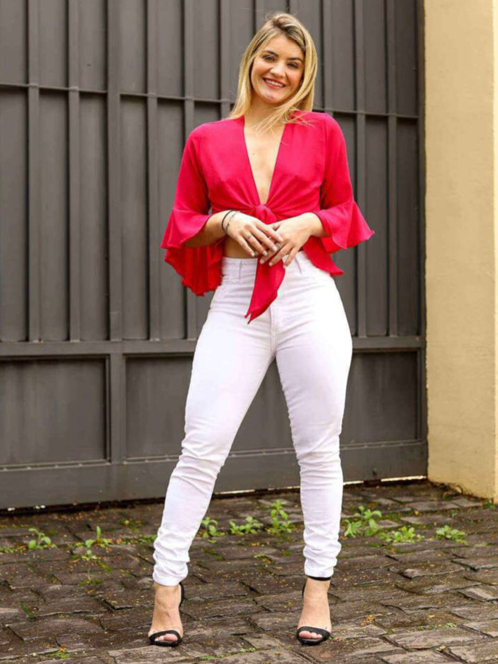 Calça Jeans Skinny - Branco