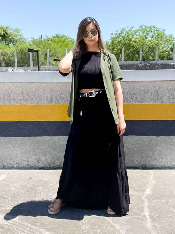 Camisa Básica Feminina  - Verde