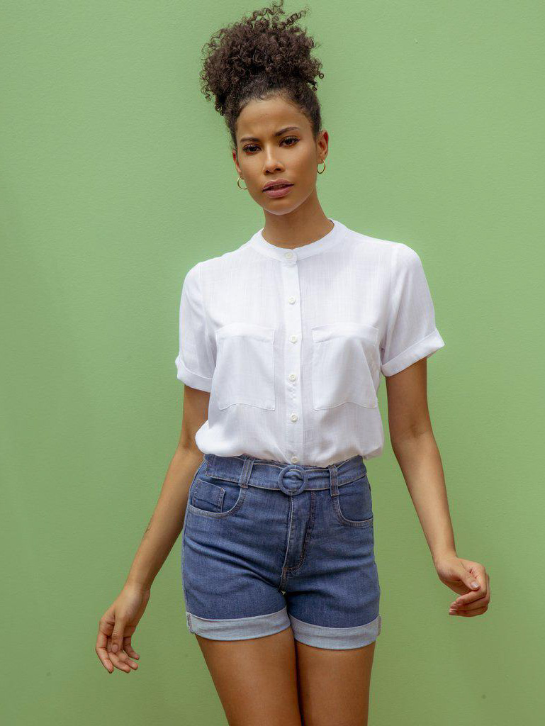 Camisa Manga Curta - Helena - Branca