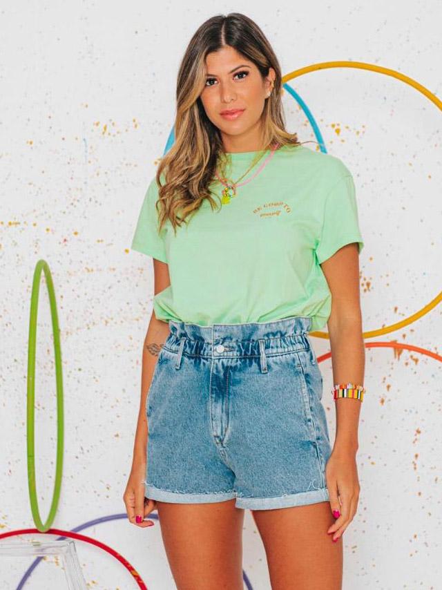 Camiseta T-shirt Ampla - Verde