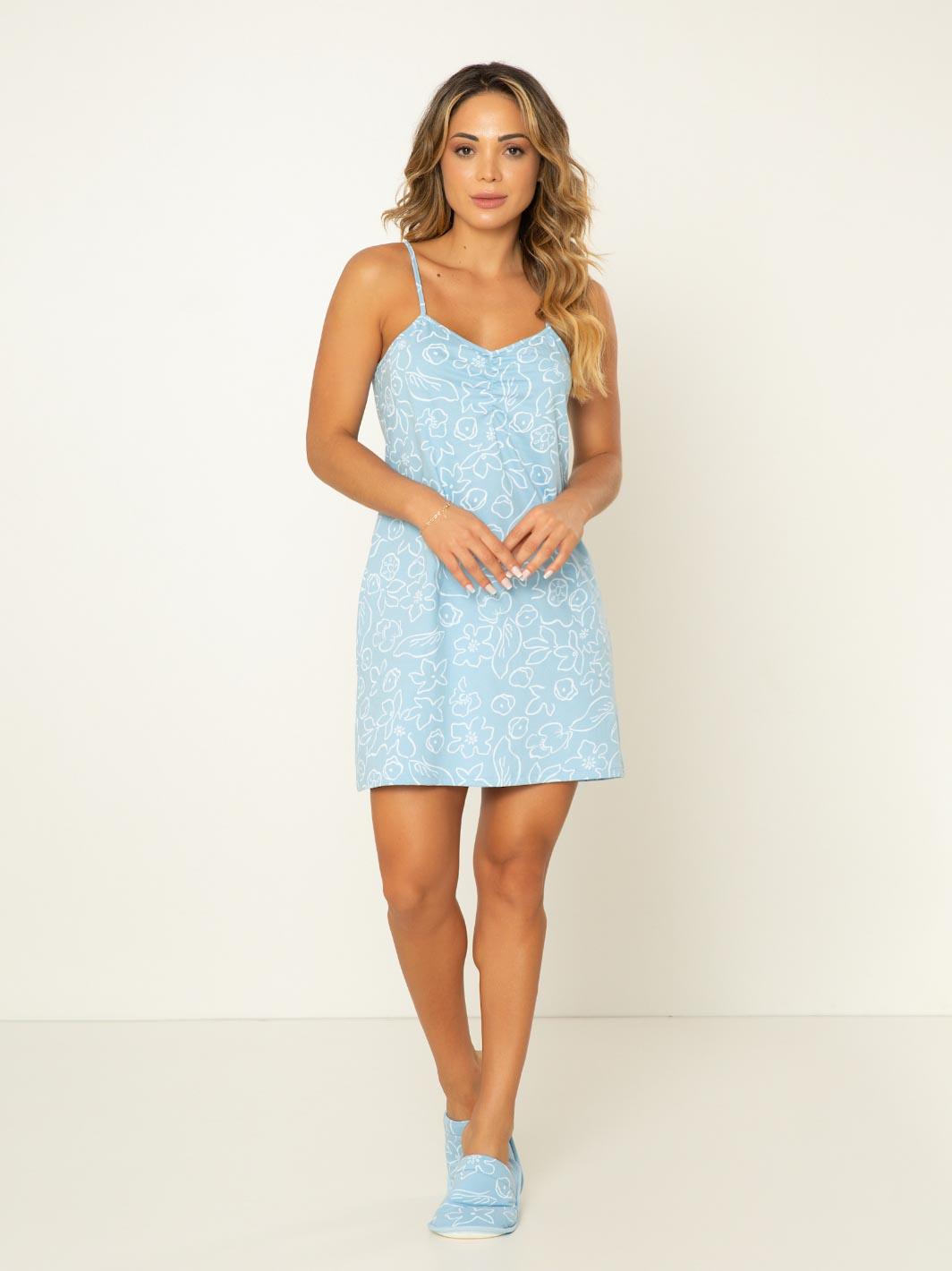Camisola Estampada Sandy - Azul