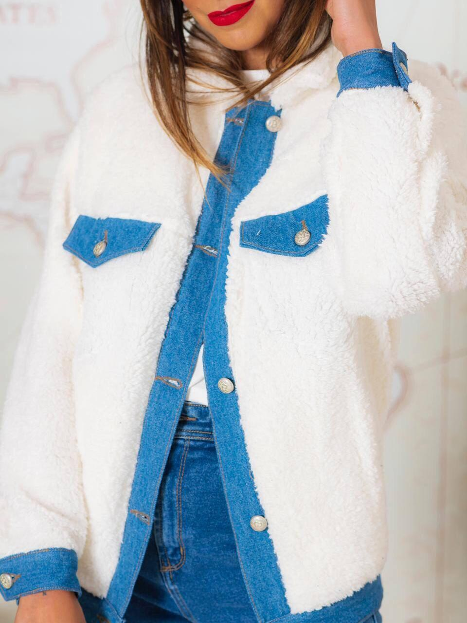 Jaqueta Polo Teddy Alongada  - Off White