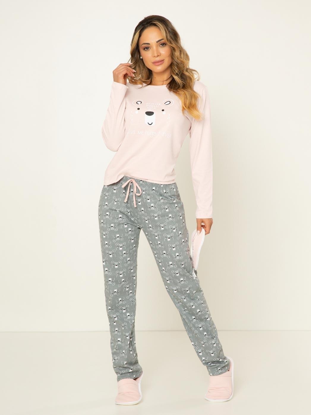 Pijama Manga Longa - Urso