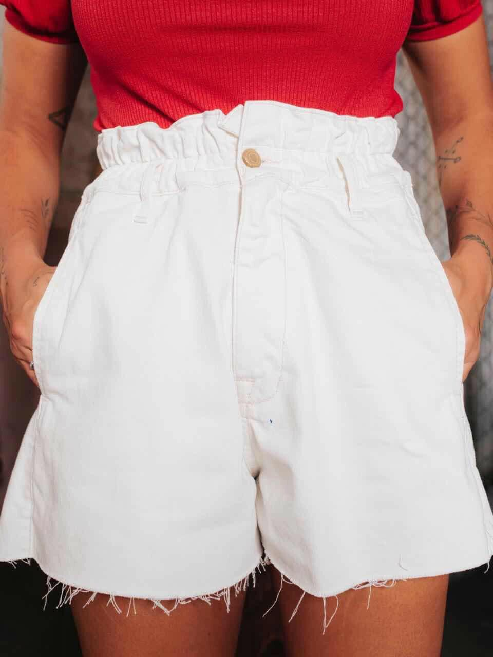 Short Jeans Clochard - Branco