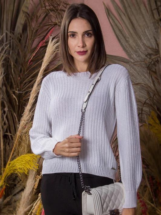 Tricô Ponto Pérola - Ana - Branco