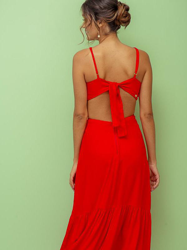 Vestido Elaine - Vermelho