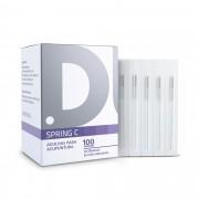Agulhas Individuais para Acupuntura (Spring C) 100unid - Dux Acupuncture