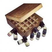 Kit 10 Óleos Essenciais Via Aroma 100% Puros + brinde Caixa Organizadora MDF